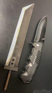 バスターソードとナイフ