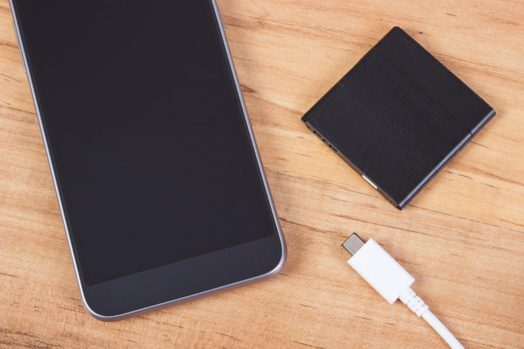 Mobile phone, plug of charger and telephone battery